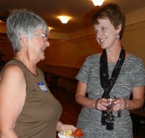 Lee Ann Colacioppo, Denver Post Editor, chats with Sandy Nance, CPW President
