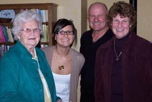 Eleanor Flanders, Maggie Schoonmaker, Fred Flanders and Francea Flanders
